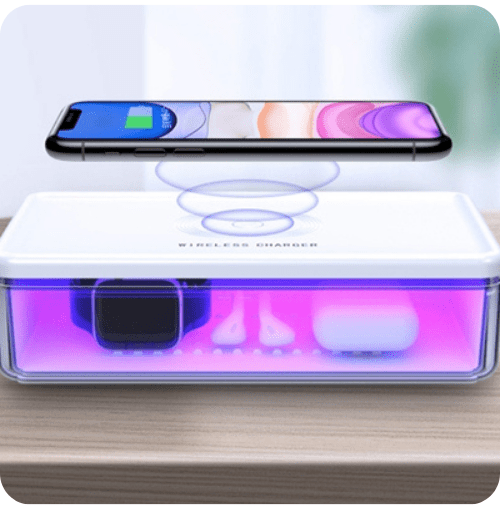 UV-C LED Sterilization Box with 10watt WiFi Charger